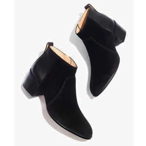 Madewell The Asher Bootie in Suede and Leather